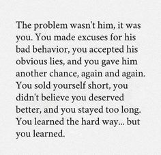 Lesson learned the hard way.