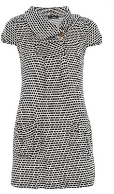 Quiz Cream And Black Box Print Knitted Tunic Top on shopstyle.com.au
