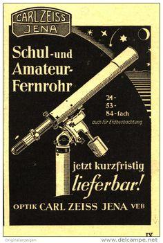 Original-Werbung/ Anzeige 1950 - FERNROHR / CARL ZEISS JENA - ca. 65 x 90 mm