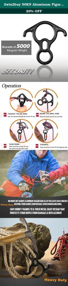 Rappel Ring 20KN Multifunctional Aluminum Rock Climbing O-Ring 12mm Rappel Gear Downhill Equipment for Descender Rappel Rock