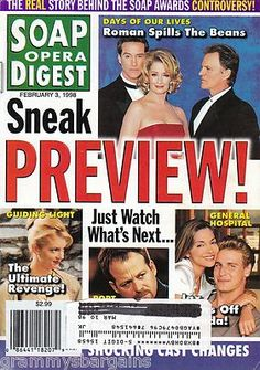 Soap Opera Digest Magazine February 3 1998 Doug Davidson Lauralee Bell   eBay