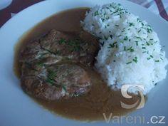 Recept na výbornou úpravu vepřové krkovice na hořčici. Steak, Grains, Steaks, Seeds, Korn