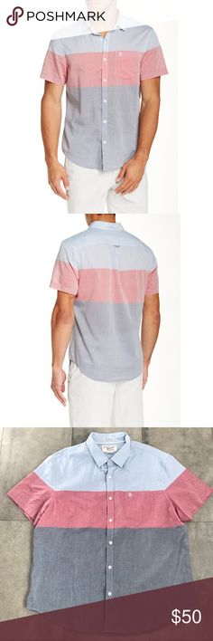 23878a48d8 NWOT  original penguin  colorblock shirt! NWOT original penguin colorblock  short sleeve slim fit