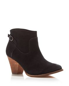 Splendid's low-key suede booties, tailored with a hint of Western charm, will look as polished with a flowing mini dress as they do with your favorite skinny jeans. | Suede upper, synthetic lining, ma