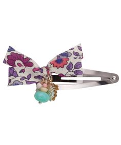 Purple Liberty Print Hairclip, Inspirations by La Girafe. Shop more girl's accessories from the La Girafe collection online at Liberty.co.uk