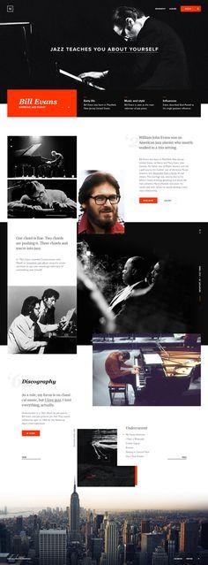 Bill Evans Biography Concept Website