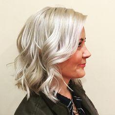 Ice/cool blonde short hair
