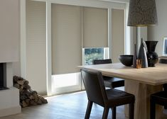 Luxaflex® Duette Shades Filtering Light & Insulating Your Home All Year Round Hunter Douglas, Window Styles, Stores, Window Treatments, Dining Bench, Windows, Furniture, Design, Home Decor