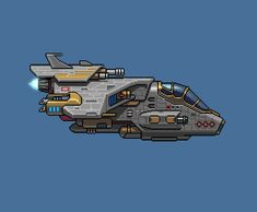 Planet Centauri - Spaceship transformation by PlanetCentauri Cool Pixel Art, 2d Game Art, Sci Fi Spaceships, Arte Robot, Pixel Animation, Pixel Art Games, Games Images, Cool Animations, 8 Bit