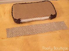 Poofy Cheeks: No Sew Fabric Diaper Case Tutorial