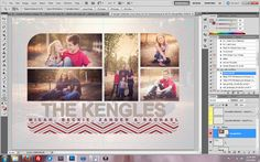 """Using """"The Album Cafe"""" Templates to Make Your Holiday Cards"""