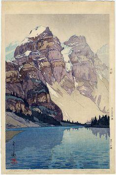 Yoshida...Castle Fine Arts...moraine lake in Alberta, Canada