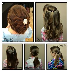 Girly Do Hairstyles: By Jenn: Days 90-94