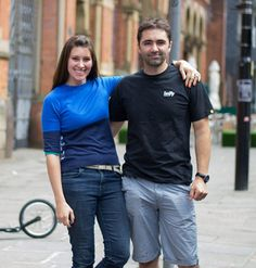 Founders and owners of Swifty Scooters, Camilla and Jason Iftakhar