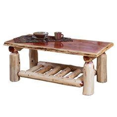 Furniture Barn USA™ Rustic Red Cedar Log Coffee Table #logfurniture