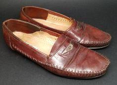 e9ec74473bc68 LORENZO BANFI Mens Leather Slip On Loafers Shoes US 10.5 M Brown Leather  Italy #LorenzoBanfi