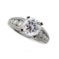 Christopher Designs Channel Set Diamond Engagement Mounting