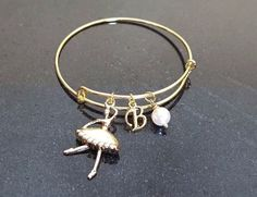 Ballerina Bangle Bracelet, Adjustable Expandable Bangle Bracelet, Ballet Tutu #Handmade