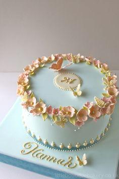 Blossom Butterfly Birthday Cake