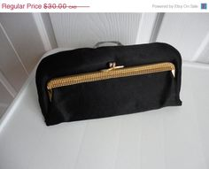 SALE Vintage Gorgeous Black Fabric Embossed by LoukiesWorld
