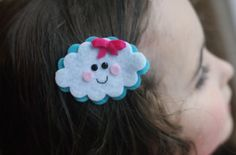Cloud Hair Clip Meet Miss Puff by CravingCuteness on Etsy