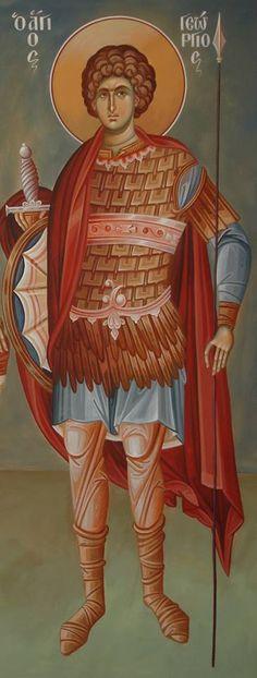 Άγιος Γεώργιος / Saint George Orthodox Icons, Saint George, Cherub, Old World, Mystic, Saints, Spirituality, Angel, Painting