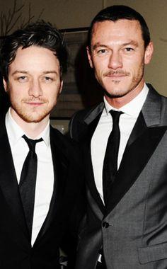 Luke Evans and James McAvoy