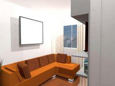 Projeto apartamento integrado, homem solteiro.