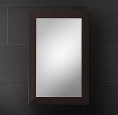 Hutton Medicine Cabinet Dark Espresso Small Inset Downstairs Bathroom