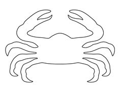 Crab pattern. Use the printable pattern for crafts, creating stencils, scrapbooking, and more. Free PDF template to download and print at http://patternuniverse.com/download/crab-pattern/.