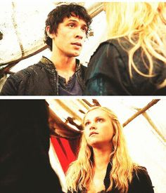 The 100 - Bellamy & Clarke. Yet another wonderful scene (not that they really have any uninteresting scenes together; even their arguments are awesome) of these two. |The 100||CW||Bellarke|