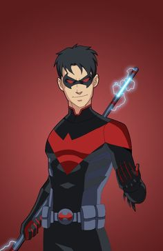 Nightwing (Tim Drake), requested by DOSCESS . Original Artwork by phil-cho, commissioned by Roysovitch and various sponsors for his Project. Dc Comics Superheroes, Dc Comics Art, Marvel Dc Comics, Batman Drawing, Batman Art, Superman, Superhero Characters, Dc Comics Characters, Marvel Speedsters