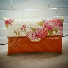 pandan hand woven clutch decoupage 2422d60d20