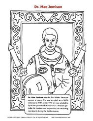 mae jemison coloring sheet first african american woman in space aboard the endeavor shuttle find this pin and more on black history month