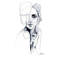 Sketch V PENCIL DRAWING A3 Giclée print from an original pencil... ❤ liked on Polyvore featuring home, home decor, wall art and paper wall art