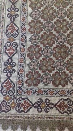 Counted Cross Stitch Patterns, Cross Stitch Embroidery, Embroidery Patterns, Cross Stitches, Needlework, Bohemian Rug, Diy And Crafts, Fabric, Hgtv