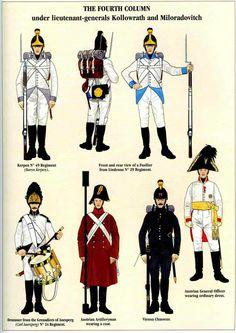 русские и австрийские войска