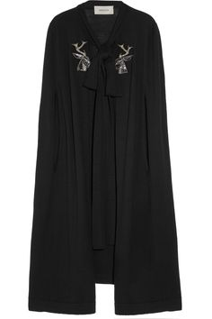 Appliqued Wool Cape
