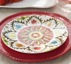 Suzani Melamine Salad Plates, Set of 4 #potterybarn