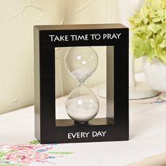 """Take Time to Pray"" Tabletop Hourglass - OrientalTrading.com"