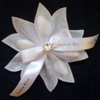 These striking Portofino Italian ribbon flower bomboniere favors are made from Italian materials, filled with Jordan Almonds and personalized for weddings, Baptisms, Communions, anniversaries or other special occasions. Almond Wedding Favours, Wedding Favours Easter, Italian Wedding Favors, Honey Wedding Favors, Elegant Wedding Favors, Wedding Gifts, Wedding Ideas, Bomboniere Ideas, Jordan Almonds