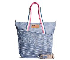 Hilfiger Denim Ally Tote Bag Made in Denim Finds - Tommy Hilfiger Womens Carry-All 2013 Spring Summer - Made in Denim Finds #MadeInDenim #DenimFinds: Accessories, Headgear, Footwear, Shoes, Bags, Toys and Products Made in Denim, Quirky & Cool Finds, Denim Outerwear (coats, parkas, capes, jackets, vests and more)