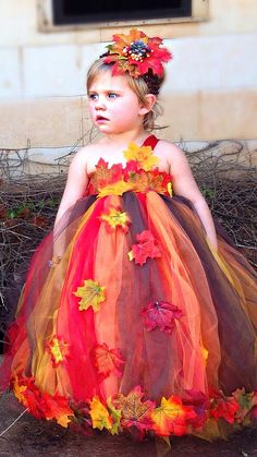 Fall Wedding Tutu Dress...Autumn by TutullyCuteDesigns on Etsy, $70.00