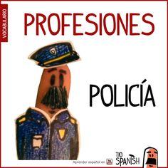 El policía / La policía --- Profesiones en español, vocabulario español incial- intermedio
