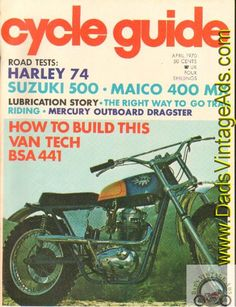 d3684e05971 1970 April Cycle Guide Motorcycle Magazine Back Issue
