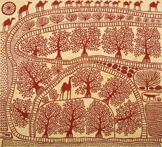 North and South - Jan Murphy Gallery Kunst Der Aborigines, Aboriginal Art, Illustrations, Op Art, Fabric Art, Pattern Art, Textile Art, Art Lessons, Painting & Drawing
