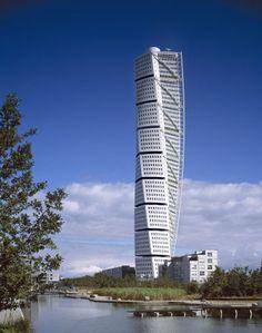 turning torso by Santiago Calatrava. Sweden. 190.4 m high