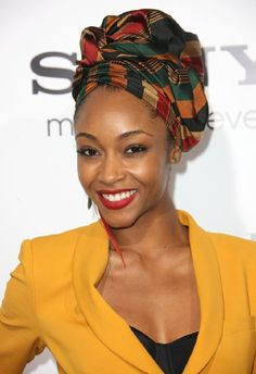 Head wraps can be a great accessory on a good or bad Hair day. Curly By Nature Curly By Nature Bad Hair Day, African Beauty, African Women, African Fashion, Ghanaian Fashion, African Hair, African Style, Turban Mode, Yaya Dacosta