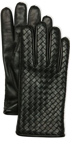 ~Bottega Veneta Men's Woven Leather Gloves | The House of Beccaria~