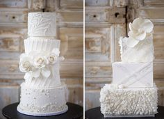 21 Chic and Delicious Wedding Cakes. To see more: http://www.modwedding.com/2014/01/15/wedding-cakes/